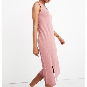 Madewell Jersey Tank Dress XS Heather Berry Pink